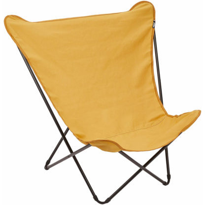 Lafuma Pop Up XL Butterfly Lounge Chair in Curry