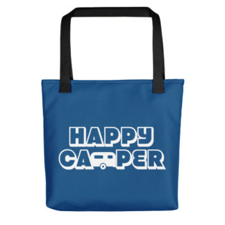 Happy Camper Tote in Classic Blue