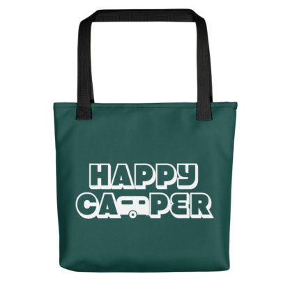 Happy Camper Tote in Forest