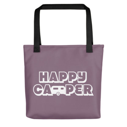 Happy Camper Tote in Soft Grape