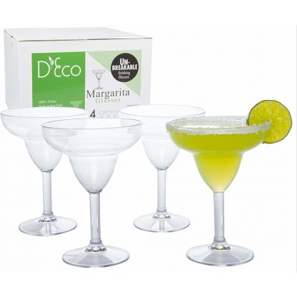 D'Eco Unbreakable Margarita Glasses