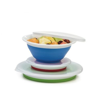 Prepworks Thinstore Collapsible Storage Bowls with Lids
