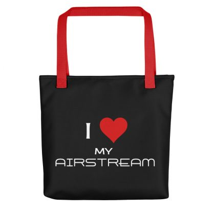 I Love My Airstream Tote red handle