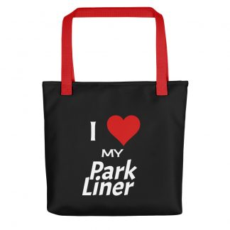 I Love My ParkLiner Tote with red handle