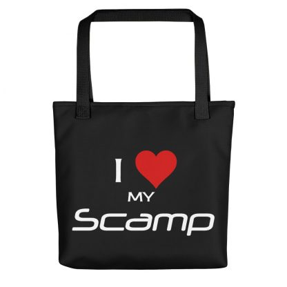 I Love My Scamp Tote black handle