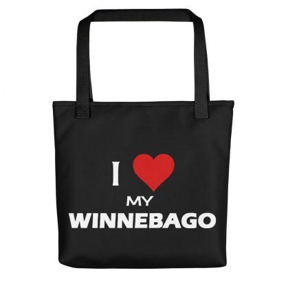 I Love My Winnebago Tote with black handle