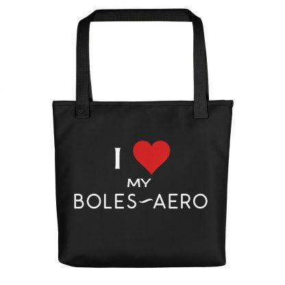 I Love My Boles-Aero Tote black handle