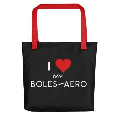 I Love My Boles-Aero Tote red handle