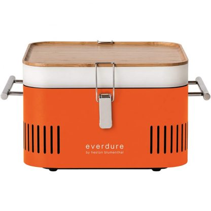Everdure by Heston Blumenthal CUBE Portable Charcoal Grill in Orange