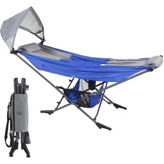 Republic of Durable Goods Mock ONE Portable Folding Hammock in Blue