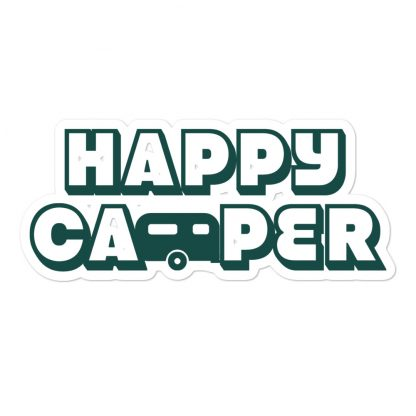 Happy Camper Sticker in Forest