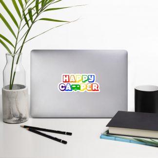 Happy Camper Sticker in Rainbow