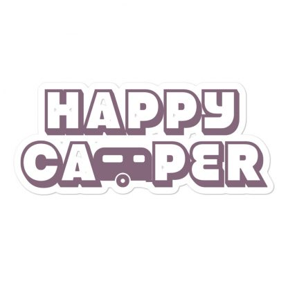 Happy Camper Sticker in Soft Grape