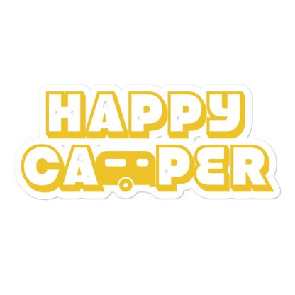 Happy Camper Sticker in Sunshine