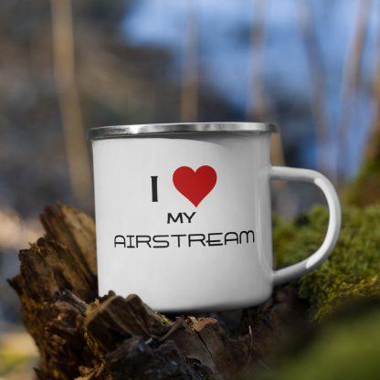 I Love My Airstream Enamel Mug