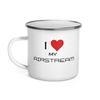 I Love My Airstream Enamel Mug left view