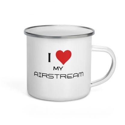 I Love My Airstream Enamel Mug right view