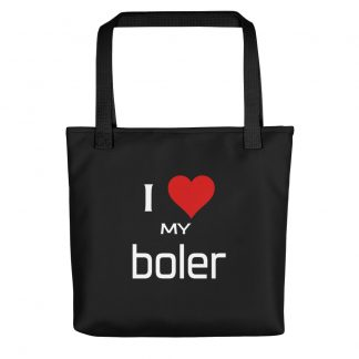 I Love My Boler Tote with black handle