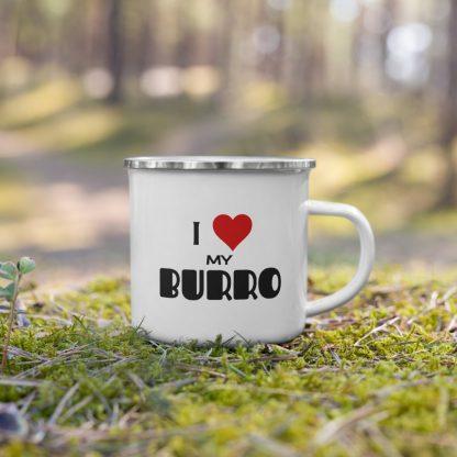 I Love My Burro Enamel Mug