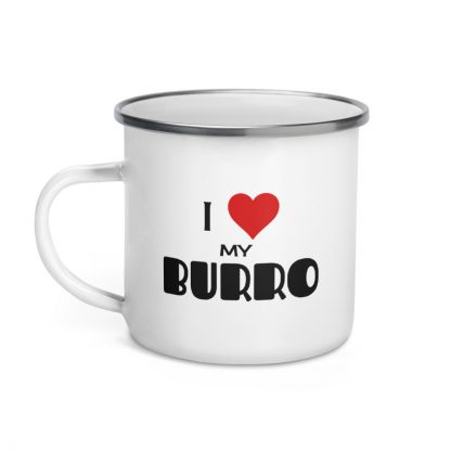 I Love My Burro Enamel Mug left view