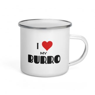 I Love My Burro Enamel Mug right view