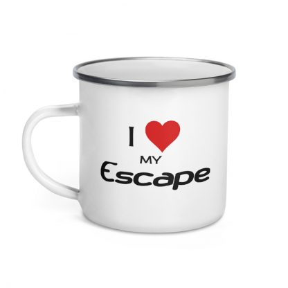 I Love My Escape Enamel Mug left view