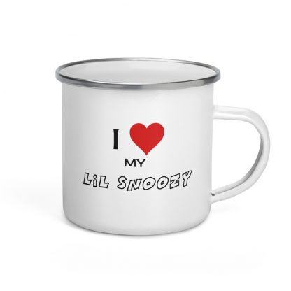 I Love My Lil Snoozy Enamel Mug
