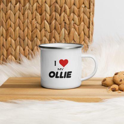I Love My Ollie Enamel Mug