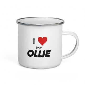 I Love My Ollie Enamel Mug right view