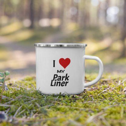 I Love My ParkLiner Enamel Mug