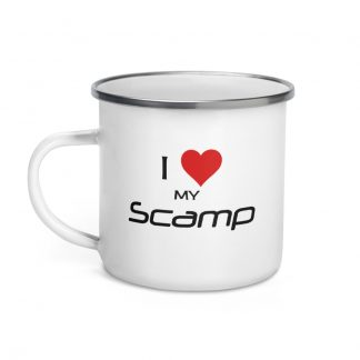 I Love My Scamp Enamel Mug left view