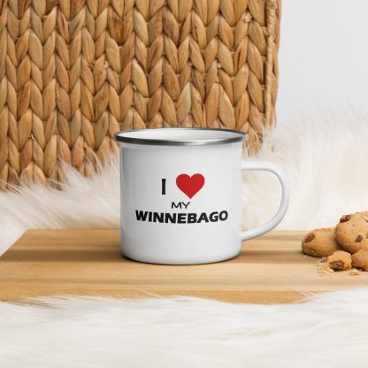 I Love My Winnebago Enamel Mug