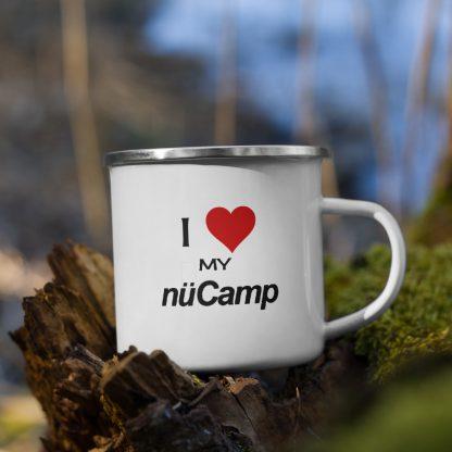 I Love My nuCamp Enamel Mug