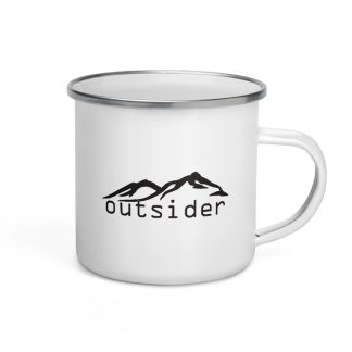 Outsider Enamel Mug left view