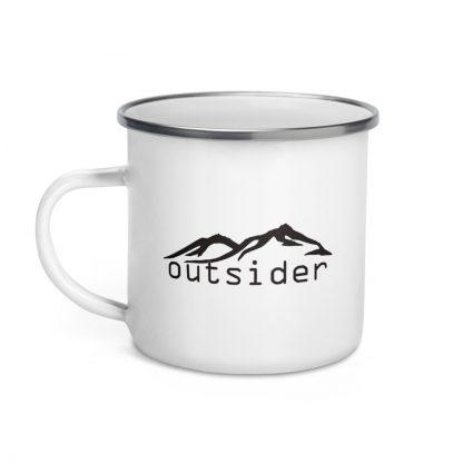 Outsider Enamel Mug right view