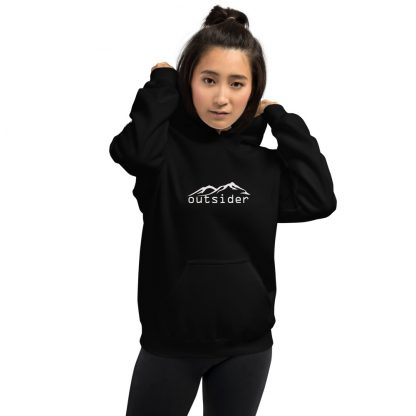 Outsider Extra Thick Unisex Hoodie in Black