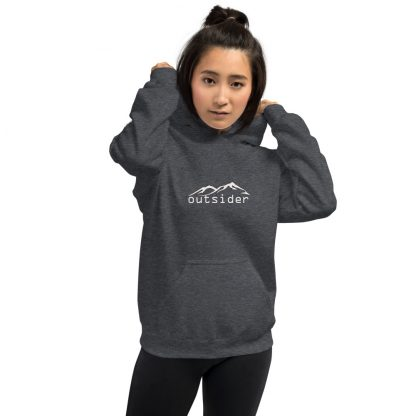 Outsider Extra Thick Unisex Hoodie in Dark Heather Grey
