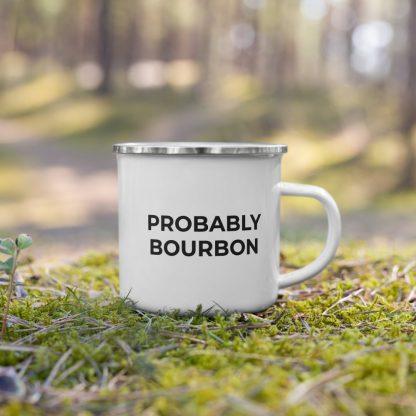 Probably Bourbon Enamel Mug
