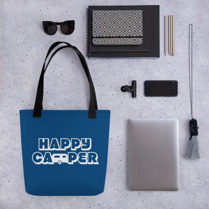 Happy Camper Tote in Classic Blue