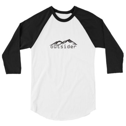 Outsider Baseball Jersey White with Black sleeves